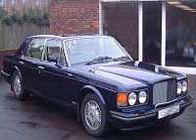 Chauffeur driven Bentley Turbo R